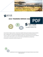 Remoik Training Calendar 2015