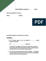 Comprehensive Support - Trust Deed - Sandwell