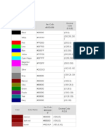RGB Color Table