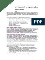 Các bước tạo E-Newsletter