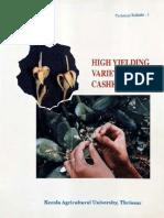 Cashew-  Yielding Varieties
