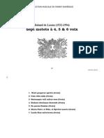 Sept motets à 4, 5 & 6 voix / Roland de Lassus