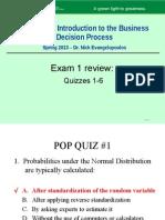 DSCI5180 Spring2013 Quizzes1-6