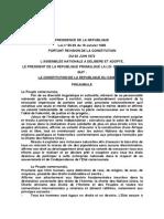Constitution Du Cameroun-1996 Et 2008