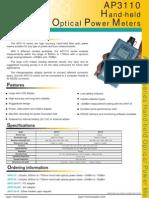 Optical power meter AP3110 - APEX Technologies
