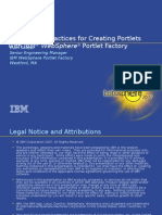 Best Practices for Creating Portlets with IBM WebSphere Portlet Factory- Lotusphere 2007.ppt