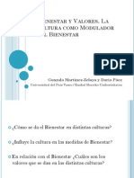 La Cultura Como Modulador Del Bienestar - Seminario Estudios Actuales en Bienestar - Universidad de Buenos Aires