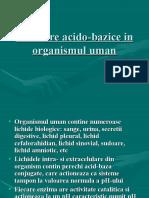 Echilibre Acido-bazice in Organismul Uman
