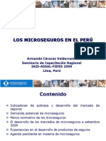Panel de actividades de desarrollo en microfinanzas