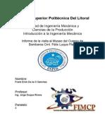 Informe Bomberos Introduccion Espol Frank de La O