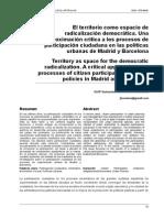 Una Aproximación Crítica a Los Procesos de Participación Ciudadana en Las Políticas Urbanas de Madrid y Barcelona
