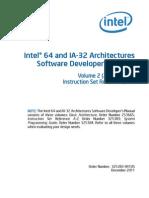 Intel Architectures Software Developer Instruction Set Reference Manual 325383