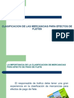 Clasificacion de Las Mercancias Para Efectos de Fletes[1]