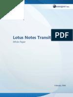 WhitePaper Lotus Notes Transition