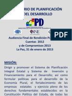 Rendicion Publica 2012 MPD