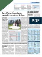 Les Chinois, gros potentiel touristique pour la Suisse