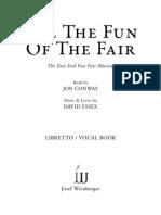 ALL the FUN of the FAIR Libretto Vocal Book