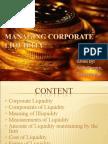 Managing Corporate Liquidity