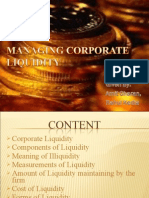 Managing Corporate Liquidity