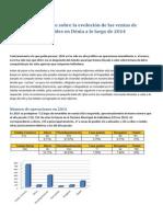 Informe anual de Ventas 2014