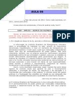 Aula 06 - PROVAS COMENTADAS ESAF - PESTANA