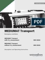 Weinmann Medumat Transport Emergency Ventilator - User Manual