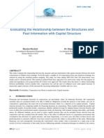 Evaluating the Relationship between the Structures and Past Information with Capital Structure