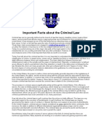 Important Facts About the Criminal Law