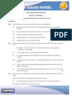 ICSEBoardPaper X Chemistry Questions 20090
