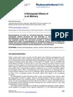 Benzodiazepina and Memory