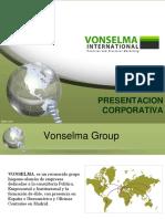 Presentación Corporativa Vonselma International 2015