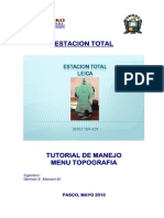 Estacion Total - Tutorial de Manejo Leica