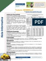NOTA INFORMATIVA DEL MEMBRILLO 2014