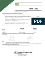 Certificado Análise Química de LP