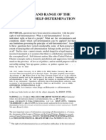 The Meaning and Range of the Principle of Self-Determination