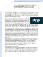 Pedagogical Corpora as a Means to Reuse Research Datat in Teacher Training - July 2014