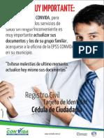 Afiches Cartelera Actualizacion de Documentos