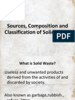 Sources, Composition and Classification of Solid Waste