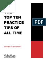 TopTen Practice TopTen Practice Tips-David MottoTips-David Motto-Molto Music