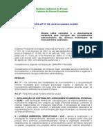 Portaria 166 - 2008 - Dispõe Sobre Conceitos e Documentações Para Licenciamento Ambiental