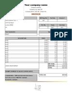 Uk Vat Invoice Form