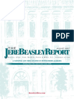 The Jere Beasley Report, Aug. 2007