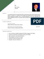 Israr Ahmed sfdShah (CV Updated)