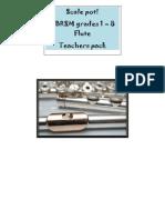 Grades 1-8 ABRSM Flute Scale Pot Cards Complete PDF