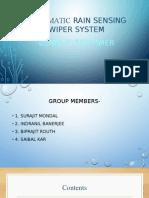 Automatic Rain Sensing Wiper System