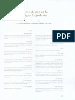 Procesos de Paz en La Antigua Yugoslavia