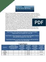 Schumer Report - DHS Shutdown & Fire Grants