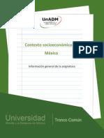 Información General de La Asignatura Desarrollo Socieconomico