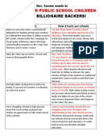 Cuomo Needs to Support Public Schools - Parent Fact Sheet