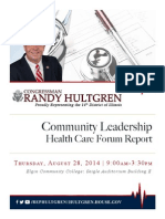 Community Leadership Health Care Forum Report